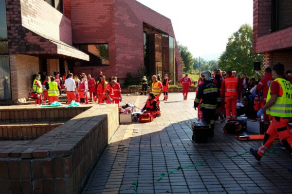 Održana vježba Zavoda za hitnu medicinu Krapinsko-zagorske županije Eksplozija i požar u kinodvorani