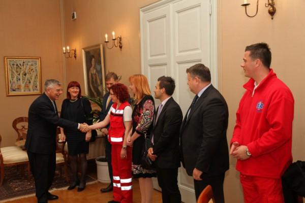 Predsjednik Sabora primio predstavnike hitne medicinske službe