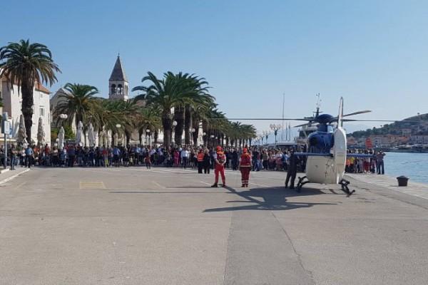 Povodom Dana policije u Trogiru održana pokazna vježba HHMS-a