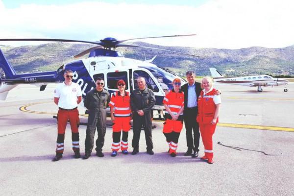 Početak rada hitne helikopterske medicinske službe u Dubrovniku pozdravio i ministar zdravstva