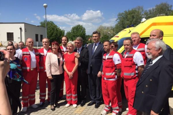 Premijer Plenković otvorio ispostavu hitne medicine u Murskom Središću