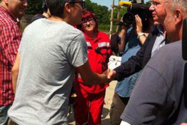 Ministar zdravlja i ravnateljica HZHM-a obišli stradale stanovnike i medicinske djelatnike u Vukovarsko-srijemskoj županiji