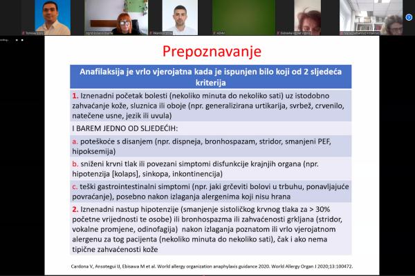 Održano još jedno predavanje Anafilaksija i anafilaktički šok