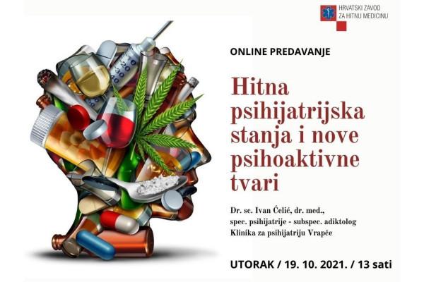 Poziv na predavanje Hitna psihijatrijska stanja i nove psihoaktivne tvari