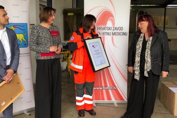 Povodom Međunarodnog dana sestrinstva HZHM u radnom posjetu istarskom Zavodu za hitnu medicinu