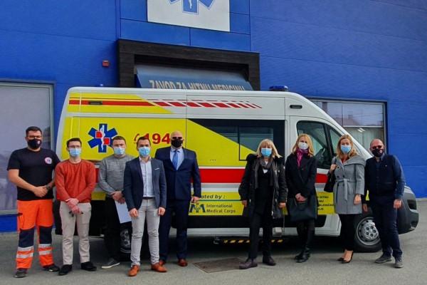 International Medical Corps donirao vozilo Zavodu za hitnu medicinu Sisačko-moslavačke županije