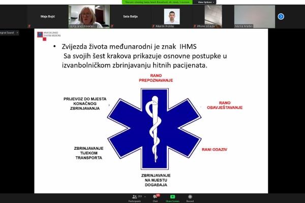 Održano predavanje Telefonsko navođenje kardiopulmonalne reanimacije za medicinske dispečere